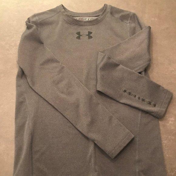Boys Under Armour Mock Neck Long Sleeve Shirt